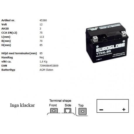 YTX4L-BS MC batteri