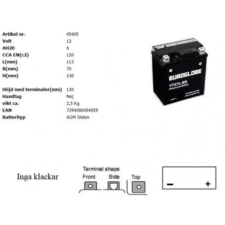 YTX7L-BS MC batteri