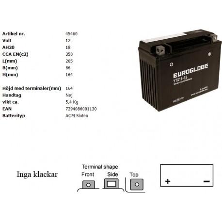 YTX18-BS MC batteri