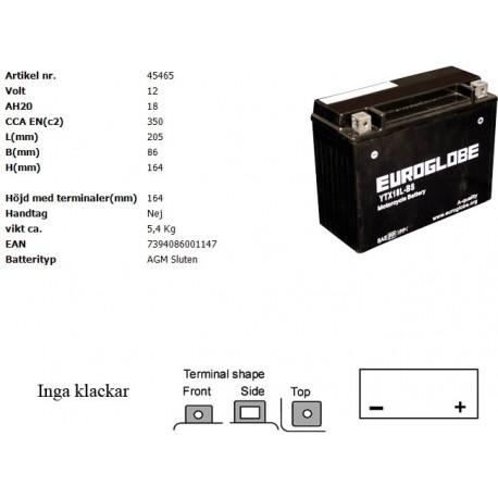 YTX18L-BS MC batteri