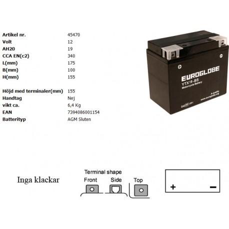 YTX19-BS MC batteri
