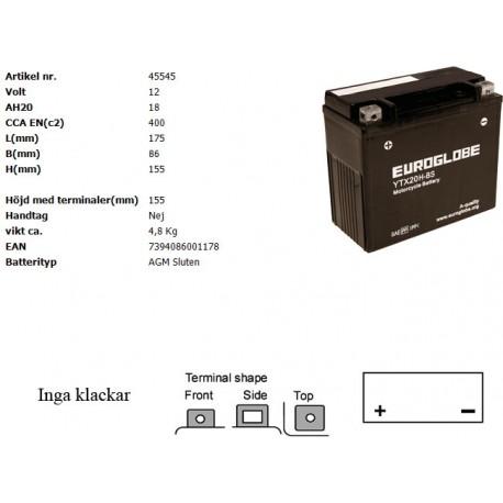 YTX20H-BS MC batteri