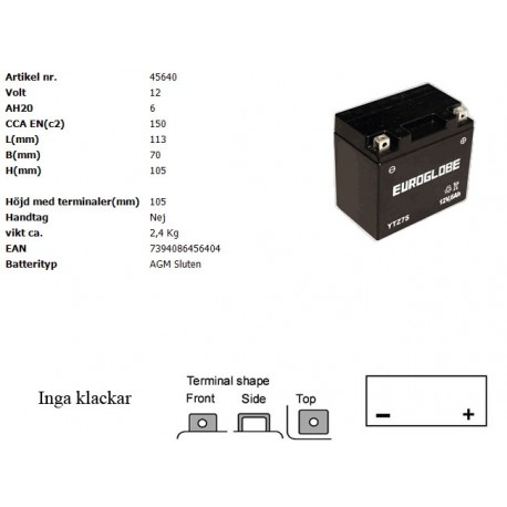 YTZ7S-BS MC batteri