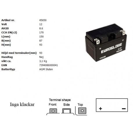 YTZ10S-BS MC batteri