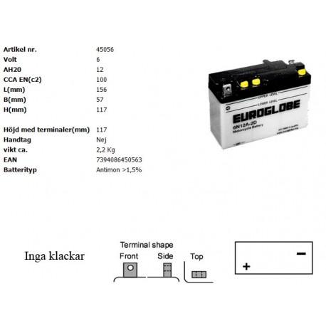 6N12A-2D MC batteri