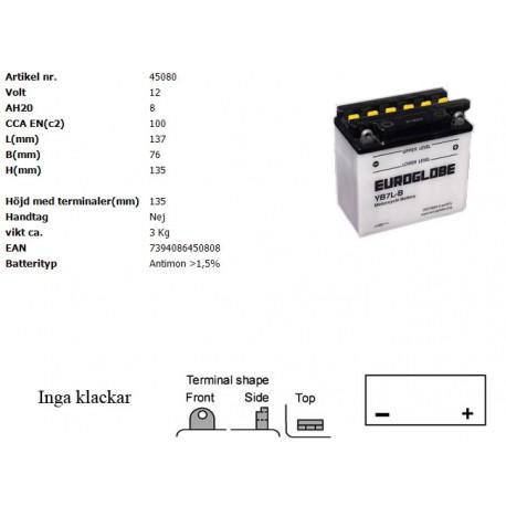 YB7L-B MC batteri