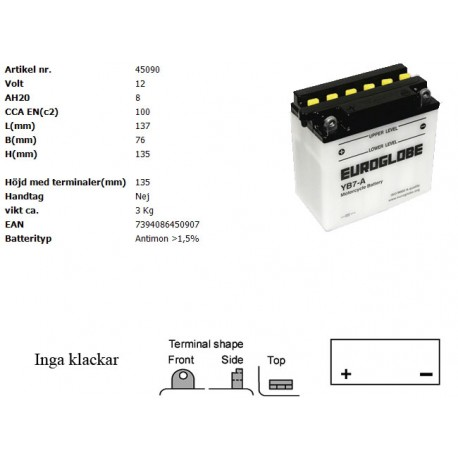 YB7-A MC batteri