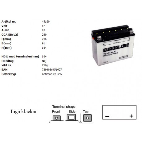 Y50-N18L-A3 MC batteri