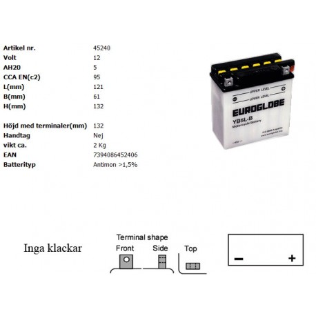 YB5L-B MC batteri
