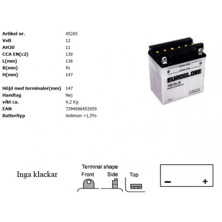 YB10L-B MC batteri