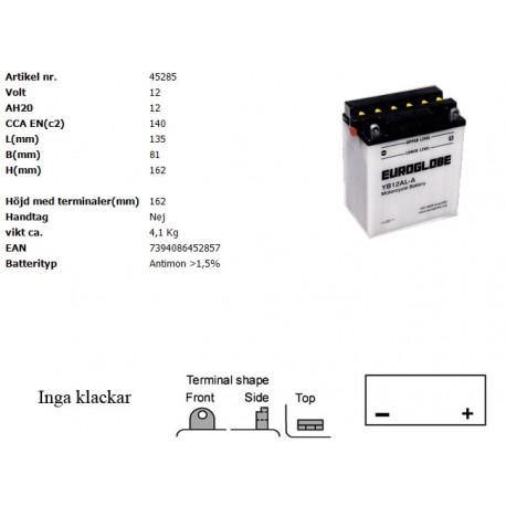 YB12AL-A MC batteri