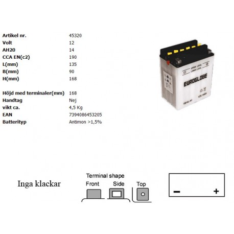 YB14L-A2 MC batteri