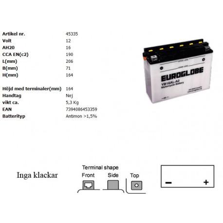 YB16AL-A2 MC batteri