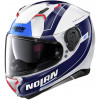 Nolan N87 Skilled - Blå/vit