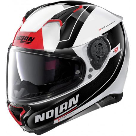 Nolan N87 Skilled - Röd/sv/vit