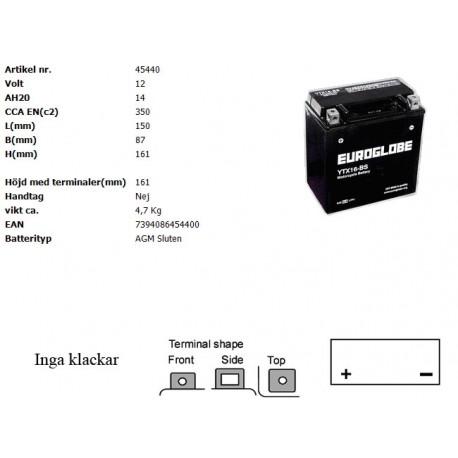 YTX16-BS MC batteri