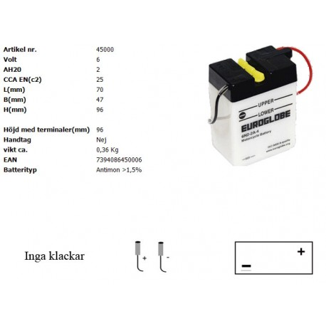 6N2-2A-4 MC batteri