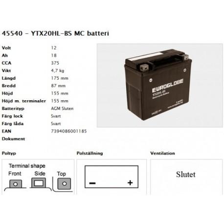 YTX20HL-BS MC batteri