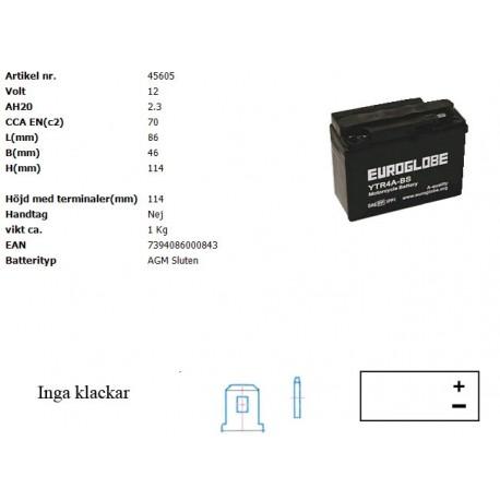 YTR4A-BS MC batteri