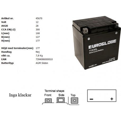 YIX30L-BS MC batteri
