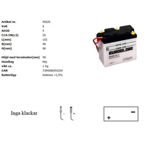 6N4B-2A-3 MC batteri