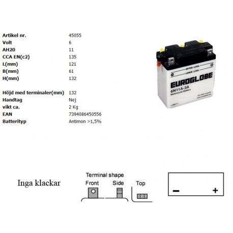 6N11A-3A MC batteri