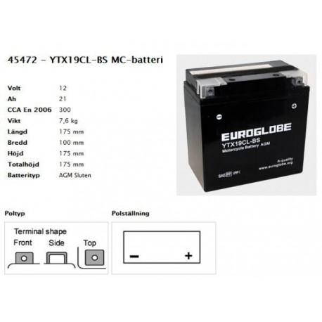 YTX19CL-BS MC-batteri