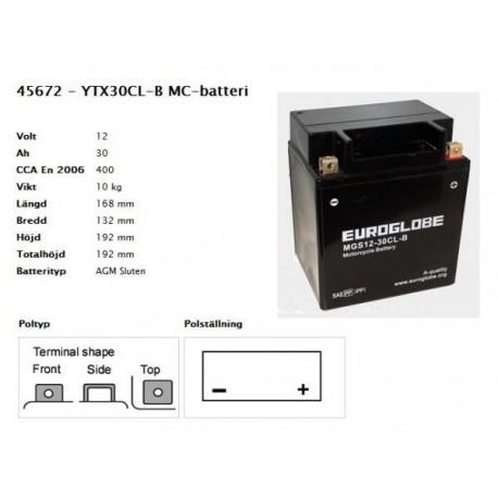 YTX30CL-B MC-batteri