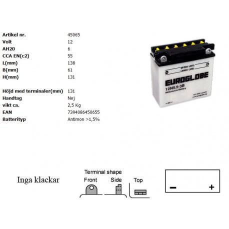 12N5,5-3B MC batteri