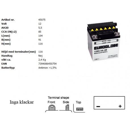 12N5,5A-3B MC batteri