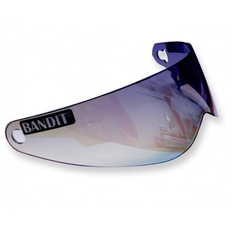 Visir Bandit XXR, Crystal, spegel silver