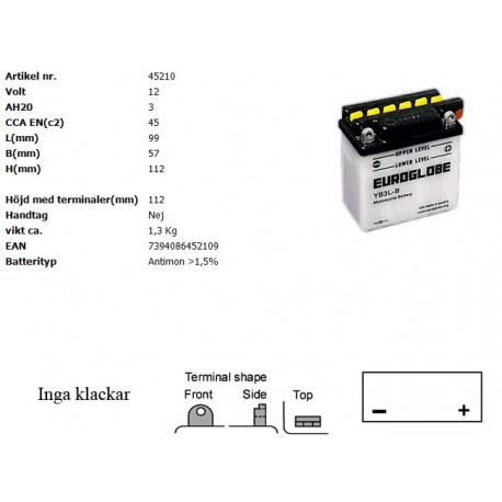 YB3L-B MC batteri