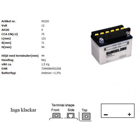 YB4L-B MC batteri