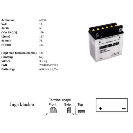 YB9-B MC batteri