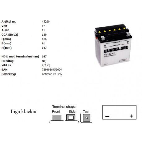 YB10L-A2 MC batteri