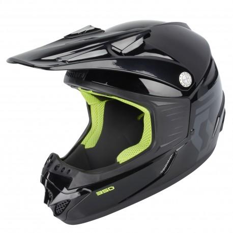 Scott 350 Race barnhjälm, svart/grön