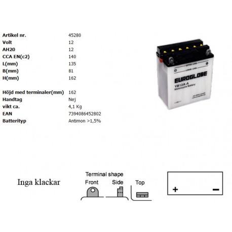 YB12A-A MC batteri