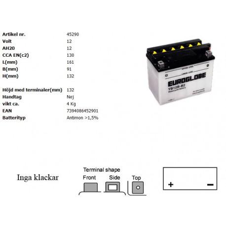 YB12B-B2 MC batteri