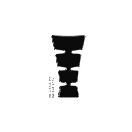 Tank Pad svart 21,3 cm x 11,7 cm