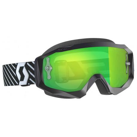 SCOTT Hustle X MX Goggles svart med spegelgrön lins