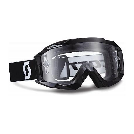 SCOTT Hustle MX Goggles svart ram med klar lins