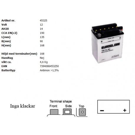 YB14L-B2 MC batteri