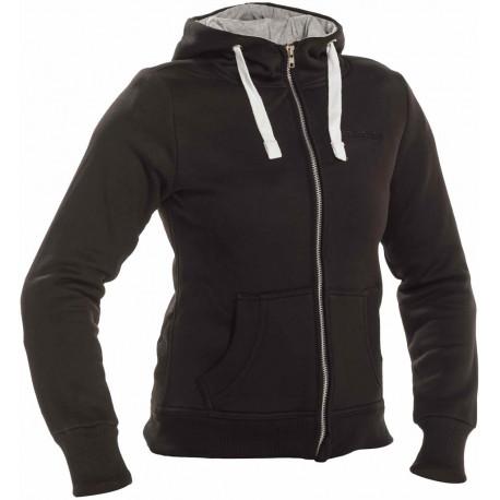 svart hoodie jacka dam