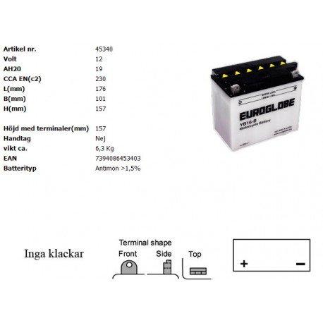 YB16-B MC batteri