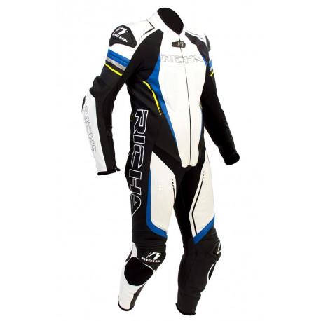 Richa Francorchamps racing skinnställ blå/vit/gul