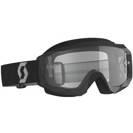 SCOTT Hustle X MX Goggles svart/grå med klar lins