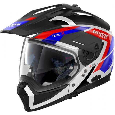 Nolan N70-2 X Grandes Alpes N-Com, svart/röd/blå/vit