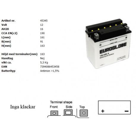 YB16B-A MC batteri