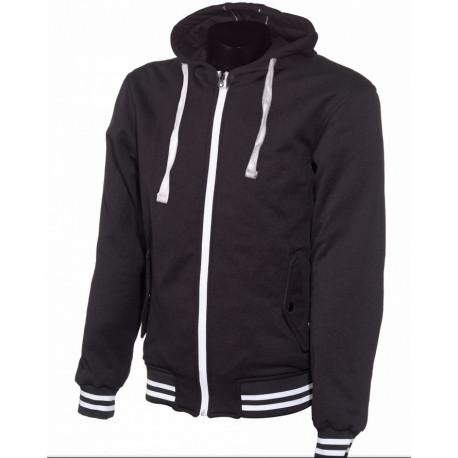 Kevlar hoodie College svart