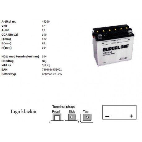YB18L-A MC batteri
